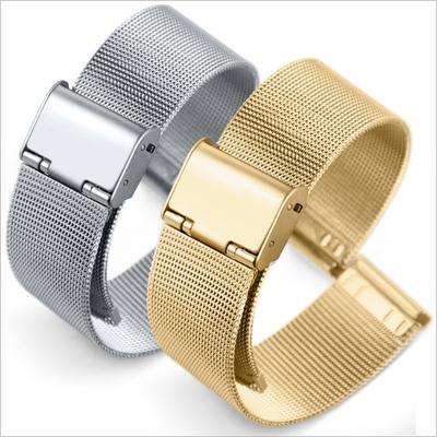 热卖 0.4线米兰尼斯网织表带 男女编织不锈钢智能手表表带 8-24mm
