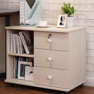 移动资料柜收纳储物柜文件柜办公公室矮柜小柜子带锁桌边长条抽屉