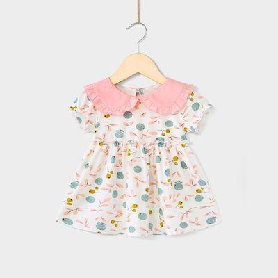 卡贝兔&杰里贝比0-6岁婴儿裙子纯棉女孩公主裙宝宝夏装女童连衣裙