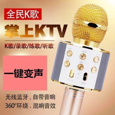 WS858无线麦克风 手机K歌宝 蓝牙麦克风K歌神器 无线变声话筒神麦