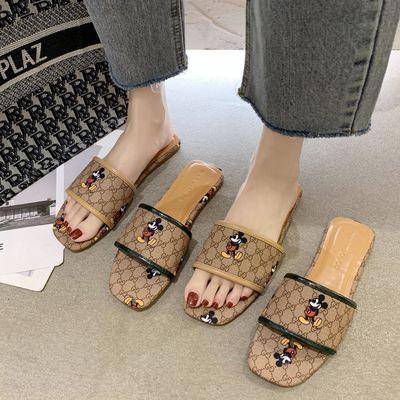 2020夏季新款凉拖鞋一字拖女鞋平跟休闲日常韩版舒适百搭家用低跟