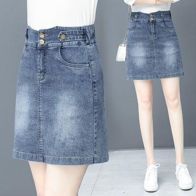 牛仔半身裙女夏高腰韩版2020年夏季新款ins裙子小个子a字包臀短裙