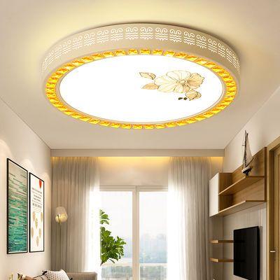 led吸顶灯圆形卧室灯家用遥控长方形客厅灯餐厅阳台灯具简约现代