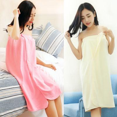 美容院专用浴袍抹胸浴裙女款夏季吸水裹胸顾客衣服可穿浴巾客裙