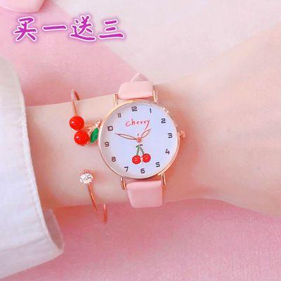 68613/学生手表女孩初中 韩版简约可爱少女小仙女指针式考试防水石英表