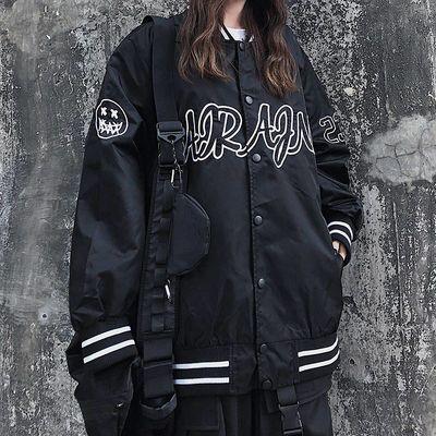 嘻哈黑暗系2020春秋棒球服潮牌男女潮牌机能风飞行员夹克外套情侣
