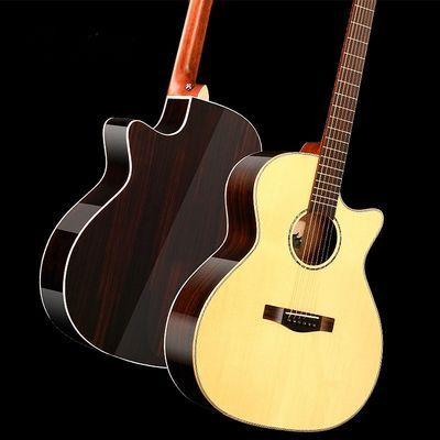 推荐好货。41寸36寸中高档单板 民谣木吉他面单 云杉木玫瑰木全桃