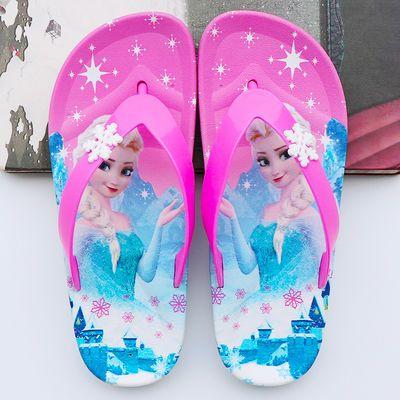 儿童经典人字拖夏季男孩女童中大童可爱卡通外穿沙滩海边防滑夹脚