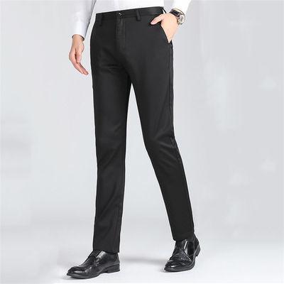 薄款西裤男宽松直筒黑色修身韩版小脚大码西服裤休闲西裤上班裤子
