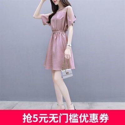 矮个子时尚雪纺连衣裙女2020夏季新款女装中长款韩版气质显瘦裙子