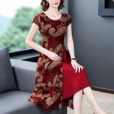 2020流行新款35一45女装夏台湾气质高贵夫人中年妈妈减龄连衣裙子