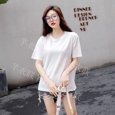 韩版宽松白色BF风2020夏季新款潮卡通米奇短袖t恤女情侣装ins