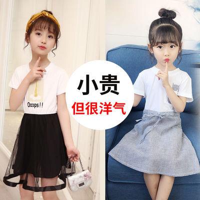 童装女童连衣裙夏仙女裙儿童套装小女孩公主韩版洋气中大童背心裙