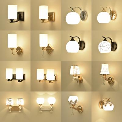 壁灯卧室床头灯现代简约欧式客厅灯led美式楼梯走廊阳台墙壁灯