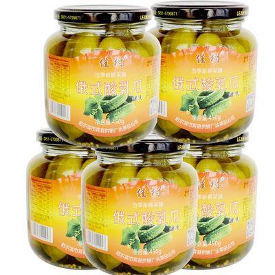 佳树正宗东北俄式乳黄瓜酸黄瓜罐头450g宾县哈尔滨特产 1瓶包邮