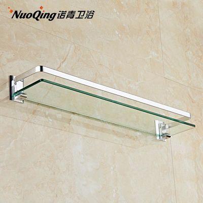 热销爆款太空铝浴室置物架卫生间壁挂单层毛巾架洗手间卫浴架玻璃