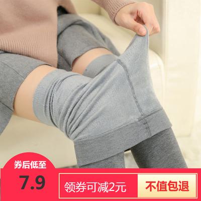 春秋季薄款踩脚打底裤袜女外穿薄绒连袜裤紧身高腰显瘦加绒保暖裤