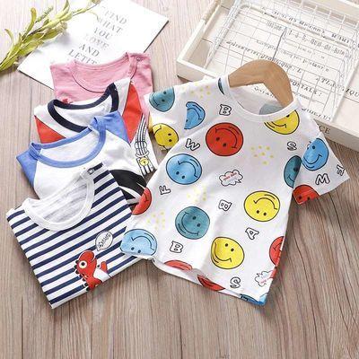 儿童短袖t恤夏季纯棉半袖宝宝上衣男童女童婴儿T恤打底衫