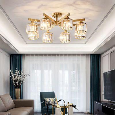 全铜客厅灯具耐用水晶餐厅卧室书房过道饭店包厢客房吸顶灯送LED