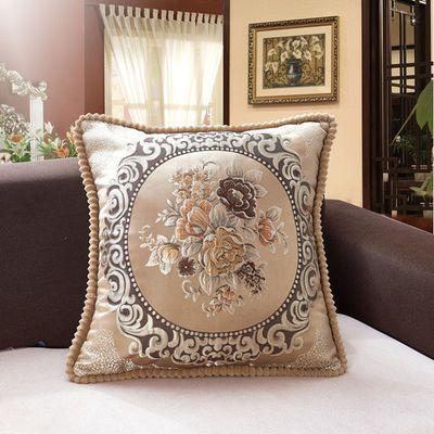欧式提花抱枕套沙发靠垫汽车卧室客厅靠背 45/50/55/60飘窗方垫芯