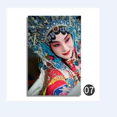 京剧花旦美女脸谱装饰画中式客厅走廊挂画中国风餐厅饭店酒店壁画