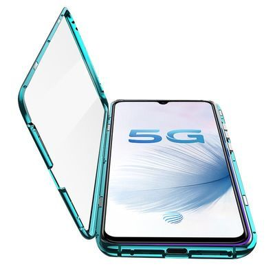 vivoS6手机壳万磁王金属边框5G版透明全包磁吸双面玻璃防摔保护套