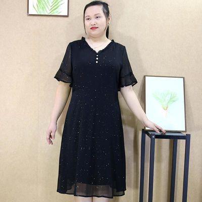 加肥大码女装2020夏装新款胖mm韩版热卖百搭收腰A字中长款连衣裙