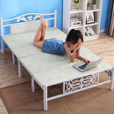 折叠床单人床家用午休床木板床简易床办公室午睡床铁床双人床成人