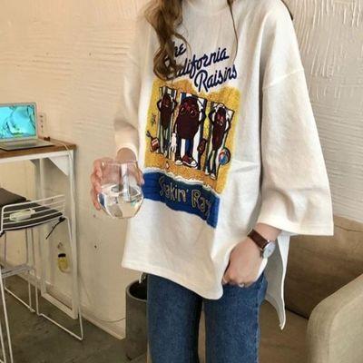 长袖t恤女装洋气欧货小衫欧洲站上衣早春潮款2020年新款设计感ins