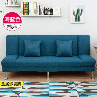 简易沙发床布艺客厅双人三人沙发北欧沙发出租房店面多功能沙发床