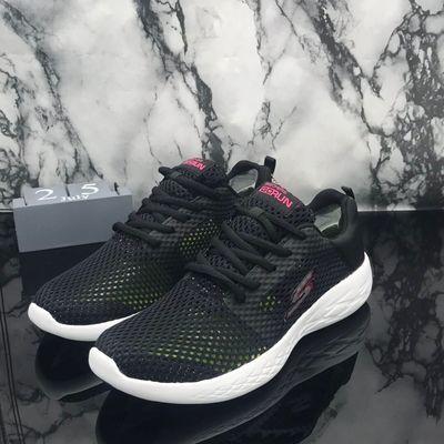 Sk斯家时尚新款镂空女鞋   轻便透气网布系带休闲运动跑步鞋15074