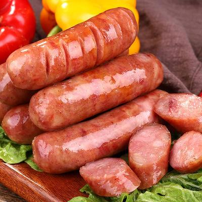 15290/火山石烤肠台湾风味纯肉肠纯肉香肠黑椒地道肠热狗肠手工烤肠批发
