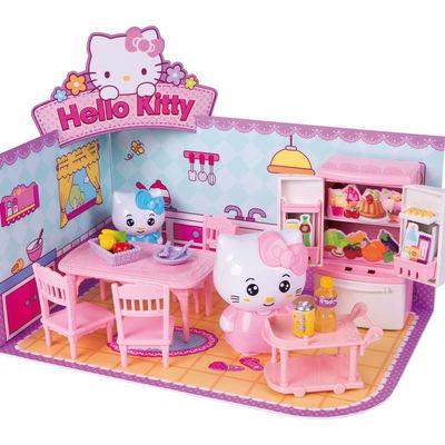 儿童过家家玩具女孩公主hellokitty3D立体套装餐厨房客厅生日礼物