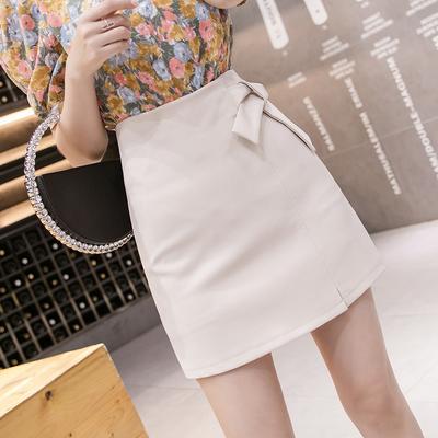 a字半身裙子夏季2020新款女装高腰显瘦包臀短裙纯色仙女超仙森系