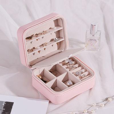 热卖耳钉首饰盒子收纳盒大容量少女心项链戒指中国风首饰饰品盒收