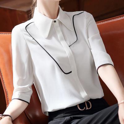 衬衫女2020春夏装韩版时尚白色衬衣女职业套装工作服气质洋气正装