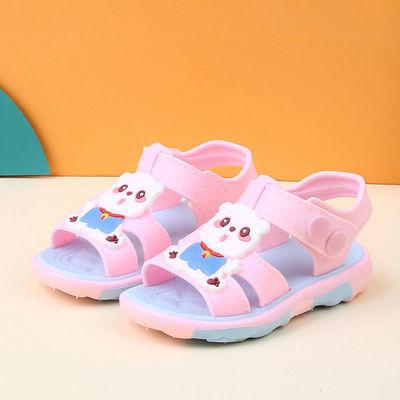 2020新款儿童凉鞋女宝宝鞋防滑软塑胶卡通搭扣防滑男孩夏季凉拖鞋