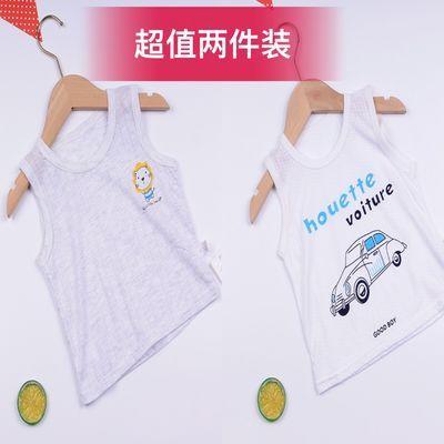 儿童婴儿背心夏季1-3岁儿童4护肚女孩男童宝宝纯棉薄款镂空吊带