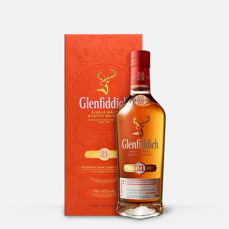 格兰菲迪21年700ml 单一麦芽威士忌纯麦进口洋酒