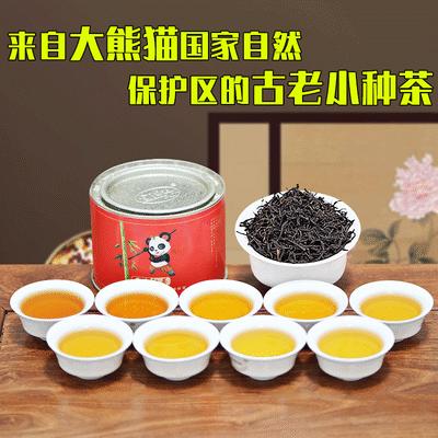 正宗小种红茶金陇红熊猫工夫红茶叶浓香型养胃红茶奶茶专用茶罐装