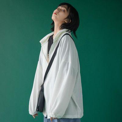 防晒衣女夏季薄款2020新款冰丝学生韩版宽松长袖拉链开衫百搭外套
