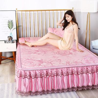 冰丝凉席床裙三件空调席单双人床学生宿舍婴儿折叠空调夏凉软席子