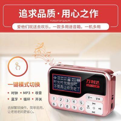 万利达T01蓝牙中文显示歌词同步收音机插卡U盘MP3小巧晨练小音箱