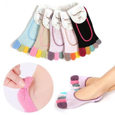【3/5双装】五指袜女士纯棉夏季薄船袜女隐形袜分指袜防臭防脚气