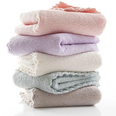 珊瑚绒小毛巾柔软吸水不掉毛擦手巾宝宝儿童婴儿小方巾幼儿园手绢