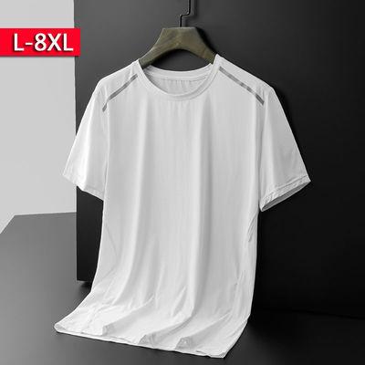 运动短袖t恤男吸湿排汗跑步休闲圆领T恤冰丝速干健身衣青少年短袖