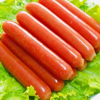 热狗肠50根1.9kg台湾风味香肠批发火山石烤肠手抓饼火腿批发原味
