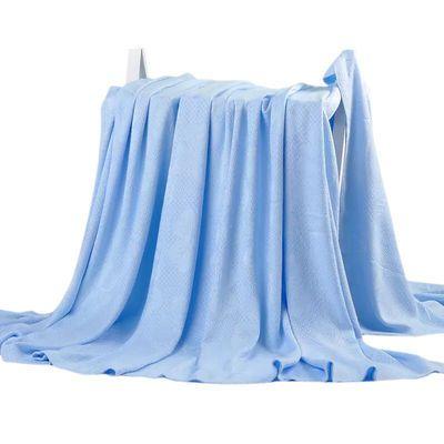 高档竹纤维毛巾被儿童盖毯双人午睡毯夏季空调毯子夏凉被冰丝毯