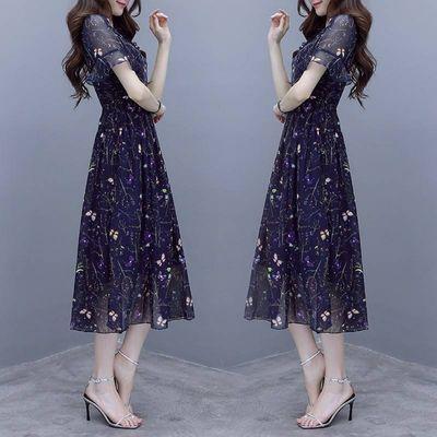 碎花连衣裙流行女装2020夏季新款气质印花韩版显瘦很仙的夏款裙子