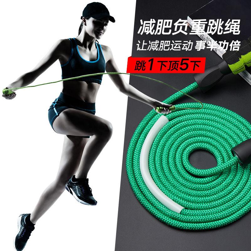 健身减肥器材运动女性燃脂跳绳男成人专用小学生专业中考钢丝负重的细节图片5